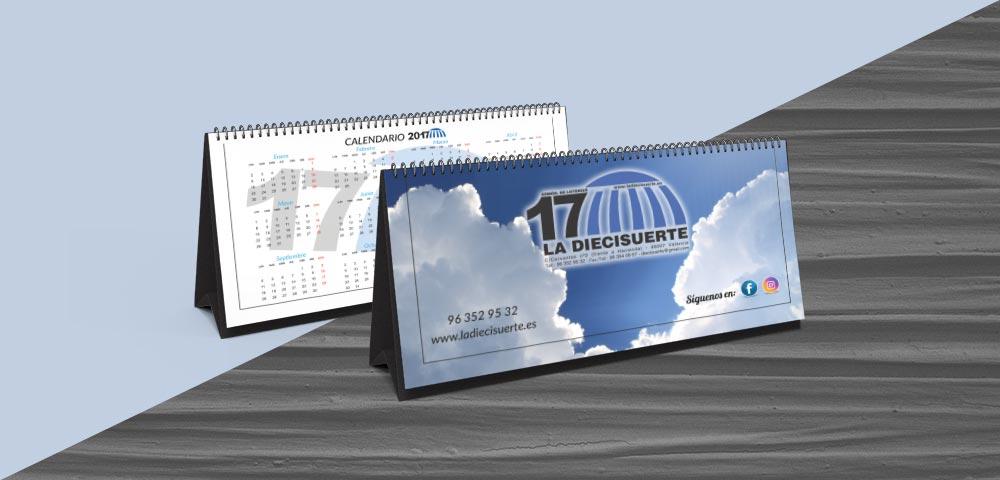 Calendario La Diecisuerte