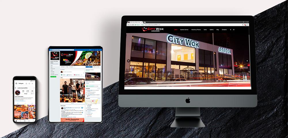 Diseño Web, redes sociales y SEO - City Wok