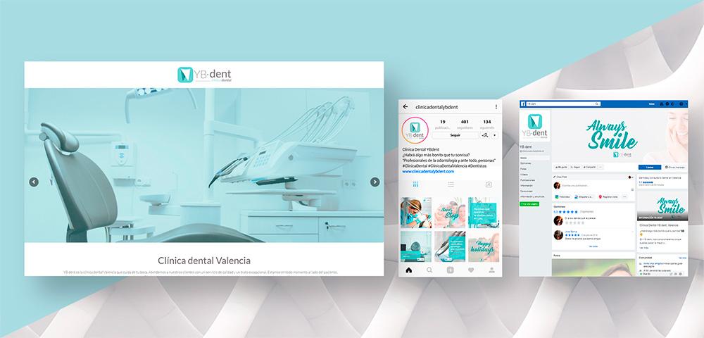 Diseño Web, Redes sociales y SEO YBdent