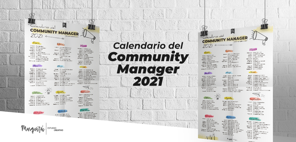 Calendario de Community Manager 2021